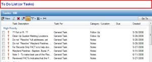 FTM 2009 Task List